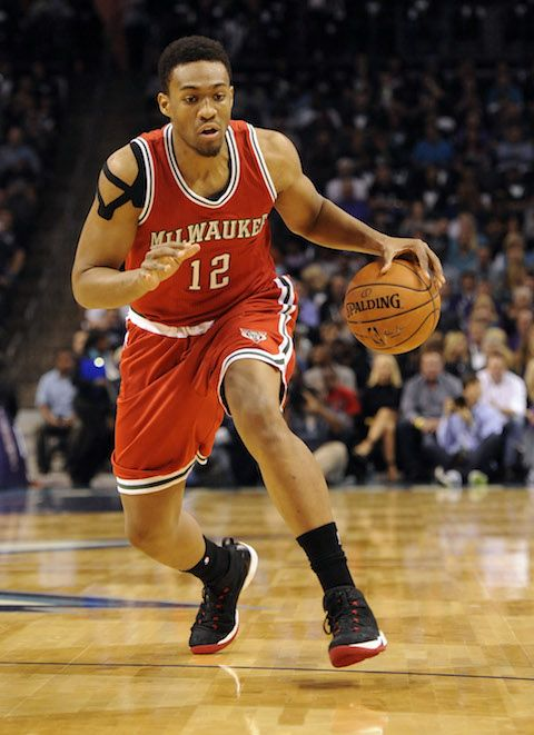At 20 years old, he's the face of a franchise. Wait until he gets back from this ACL injury, the Bucks will be a problem. #JabariParker