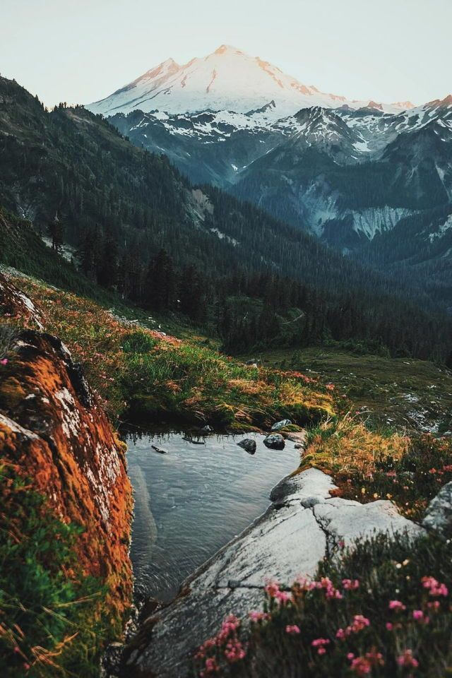Gletscherteich. – #Land #Gletscher #Teich