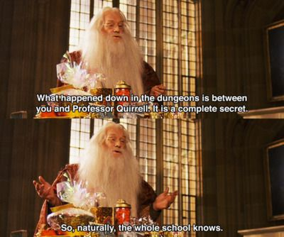 Haha, one of the best lines, from the best Dumbledore.