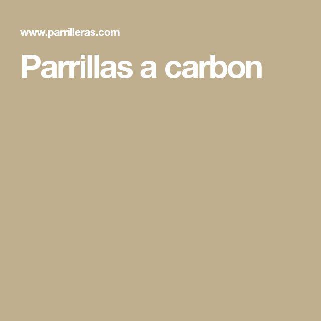 Parrillas a carbon
