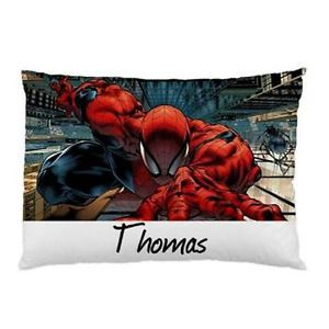 Personalized-Comic-Spiderman-Pillowcase-Childrens-Kids-You-Choose-Name