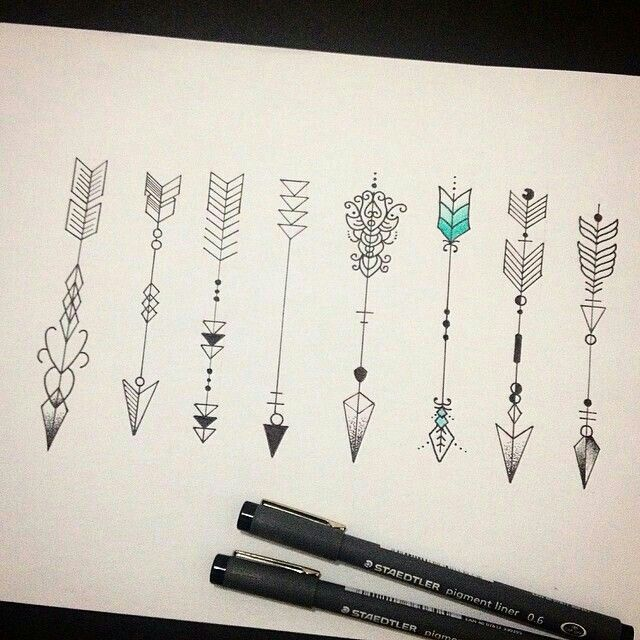 ? for sisters tattoo idea. The colored in back of the arrow symbolizes whether you are 1 2 or #3 sister ???