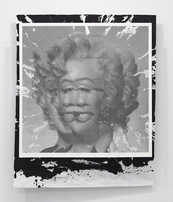 Marilyn Monroe pop art portrait as hand-carved paper cutout by South Korean artist Yoo Hyun.