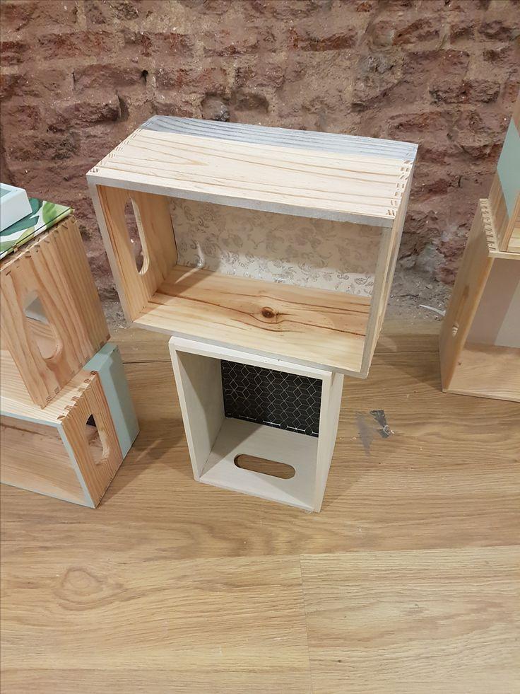 Estanterias con cajas - Talleres DIY de Leroy Merlin