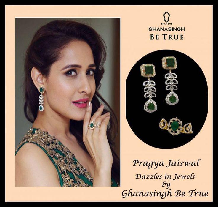 Pragya Jaiswal Dazzles in Jewels by Ghanasingh Be True At 63rd Filmfare Awards South 2016 ,Hyderabad