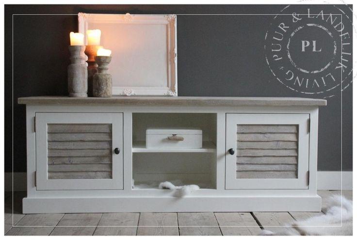 Maatwerk / landelijk tv meubel / Louvre / ROMANTIC FLAME | 》Landelijk tv meubel / flatscreenmeubel / flatscreenkast | Puur & Landelijk Living
