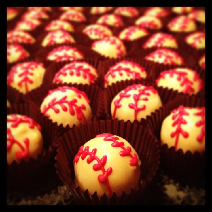 Softball Cake Balls