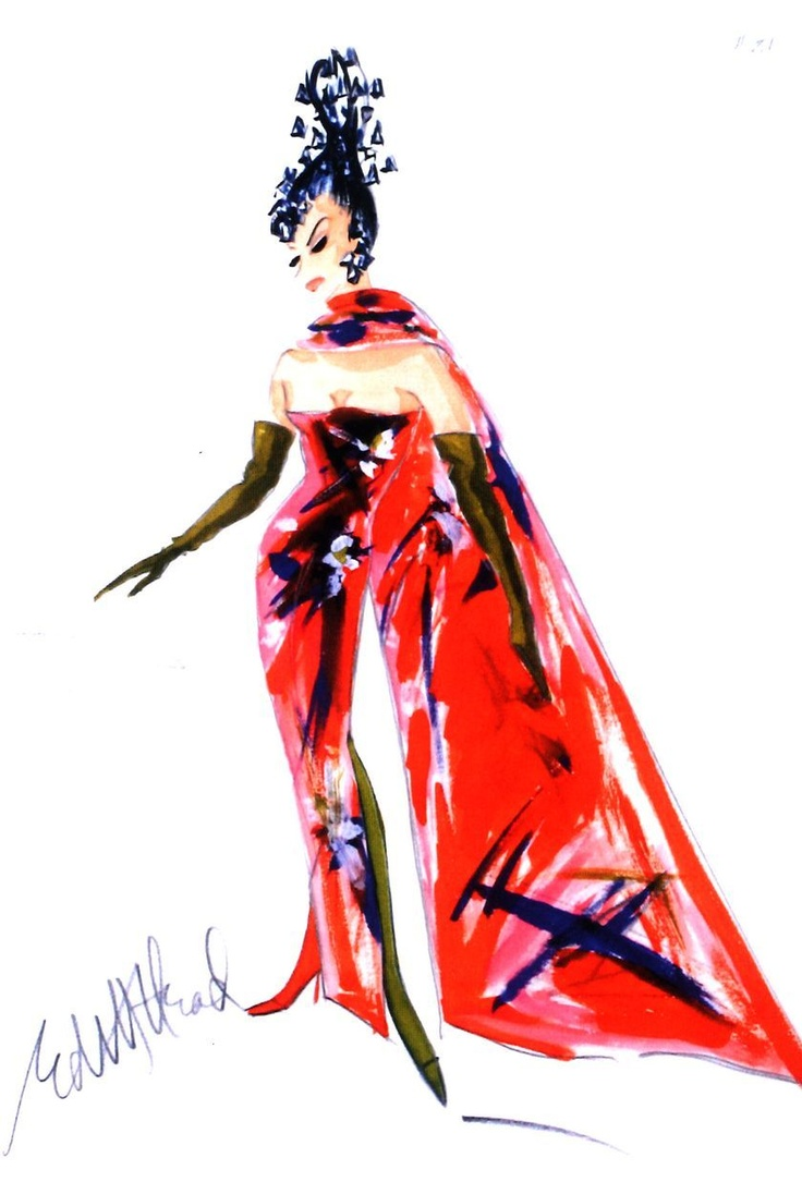 S MacLaine What A Way to Go Costume Sketch Poster Edith ... Shirley Maclaine In What A Way To Go