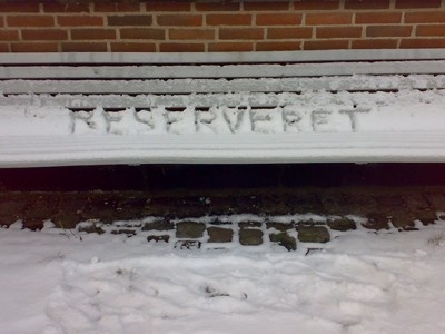 Reserveret (reserved) Site specific 2009 Copenhagen