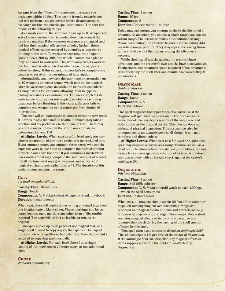 sorcerer spells dnd 5e list pdf