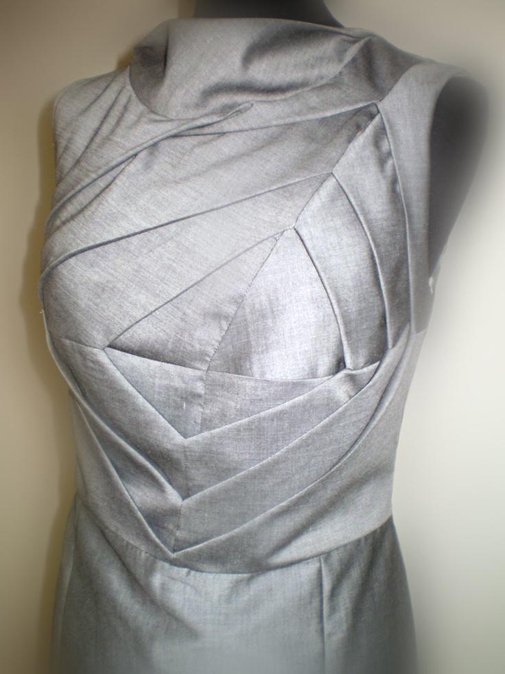 Origami Dress Unusual Shift Dress Art To Wear Dress