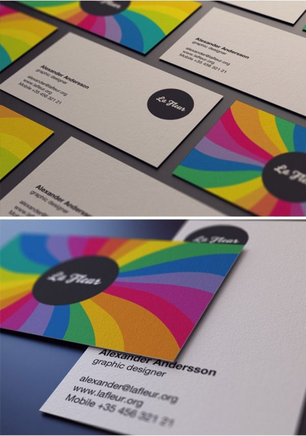 Colorful Business Cards Inspiration Images - Card Design And Card ...