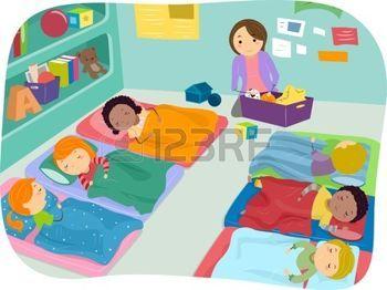 sieste enfant: Illustration enfants d'âge préscolaire de faire une sieste