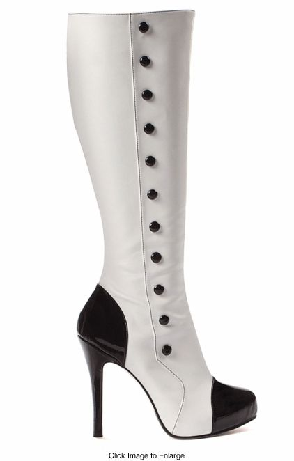Knee high boots with buttons. I can think of quite a few pins that would love to be paired up with these.