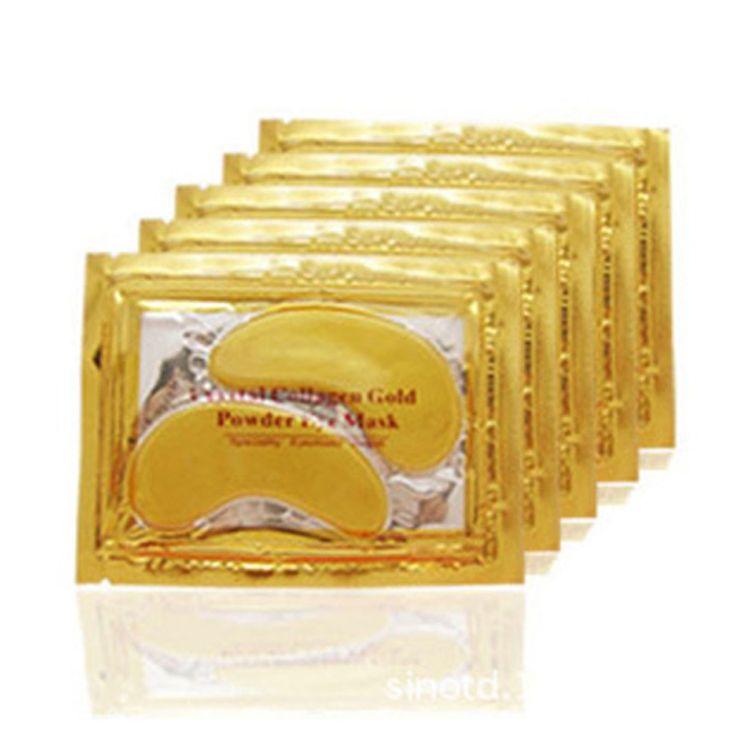 10 sztuk = 5 pack Wysokiej Jakości Złoty Kryształ Collagen Eye Mask Hotsale Obturatory