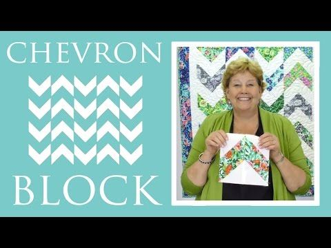 The Chevron Block Quilt: Easy Quilting Tutorial with Jenny Doan of Missouri Star Quilt Co - YouTube