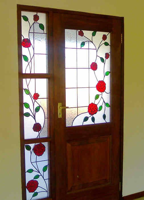 Stained glass door... I Love this!!! Maybe I should have Tim make one for our home.