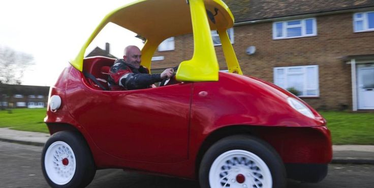 Awesome! Adult-sized Little Tikes Car. -- John Bitmead, a 48-year old mechanic from Oxfordshire, UK, may just have redefined the meaning of Throwback, albeit with an adult twist.