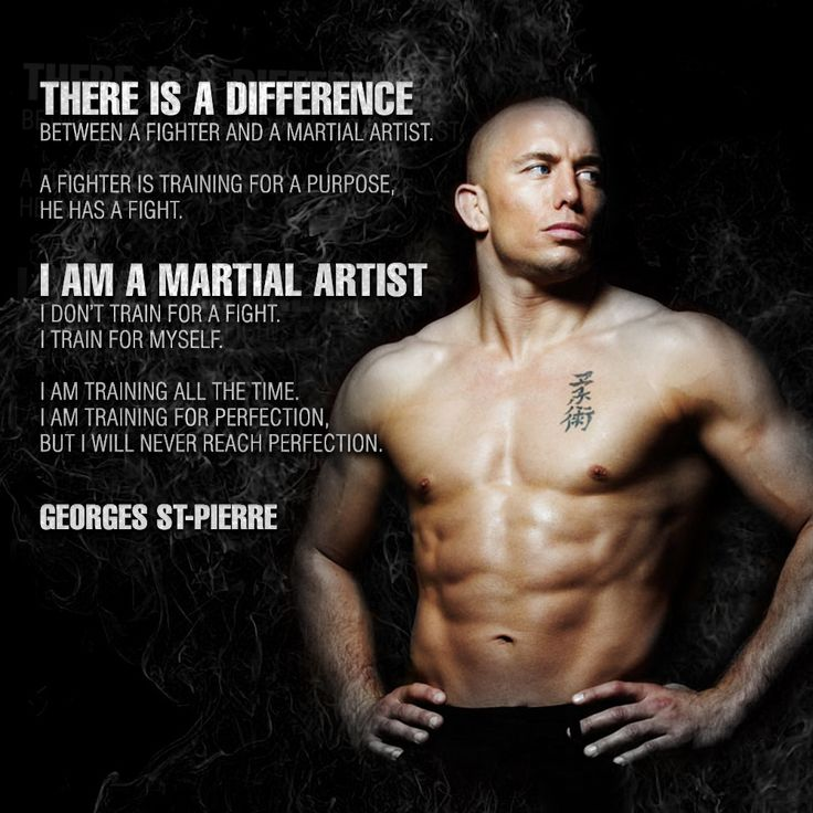 """There is a difference. I am a martial artist."" - Georges St-Pierre #MMA #JiuJitsu #UFC"
