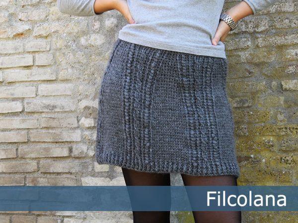 Tilia hæklet nederdel