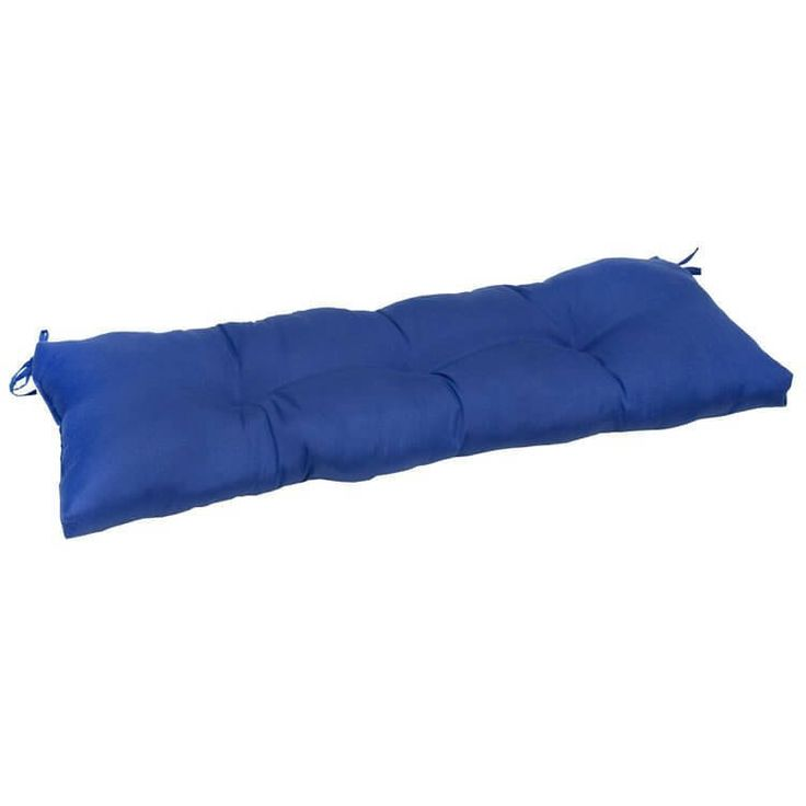 Patio Seat Cushion Outdoor Furniture 44-Inch Bench Pillow Marine Blue New #1