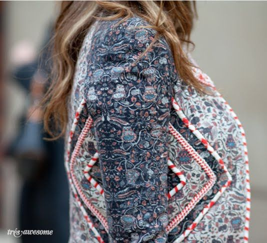 Print Streetstyle from Chicago - Isabel Marant Jacket