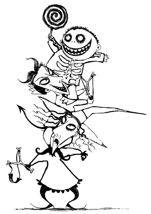 nightmare before christmas coloring pages mayoral | Les 104 meilleures images du tableau // COLORIAGE ANTI ...