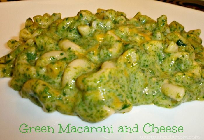 St Patrick's Day Food for Kids: Green Macaroni and Cheese