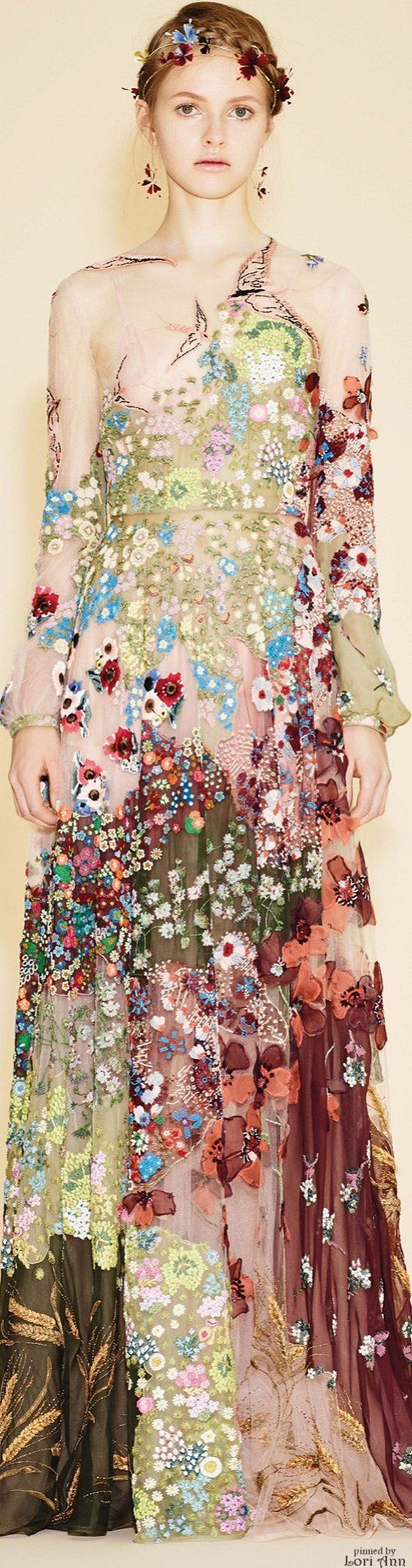 the textures and patchwork effects are very interesting - the bird and flower stitch work is lovely