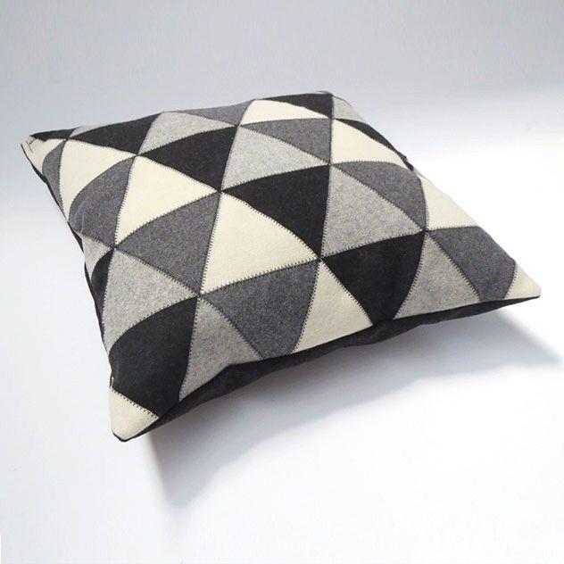 Lapp Cushion - Black / Grey / White