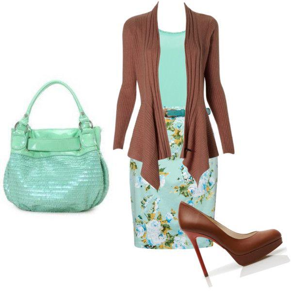 Brown and Teal - Apostolic Clothing Pentecostal