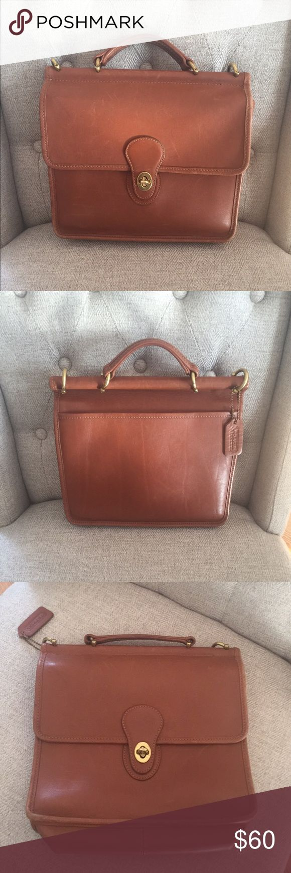 GORGEOUS VINTAGE COACH WILLIS BRIEFCASE 🌹🌹🌹🌹🌹 Beautiful, vintage COACH dark tan small briefcase/bag! So much character!! Perfect to tote small notebook, fits iPad or whatever you want! Has a small tear in the inside as pictured but in great condition! Does not come with strap. Classic look! 🌹🌹🌹🌹🌹🌹🌹🌹🌹🌹🌹🌹🌹🌹🌹🌹🌹🌹🌹🌹🌹🌹🌹🌹 Coach Bags Satchels