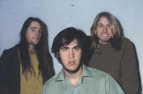 Chad Channing, Krist Novoselic and Kurt... really old pic from the 80's