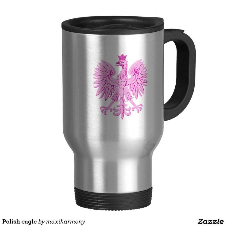 Polish eagle 15 oz stainless steel travel mug