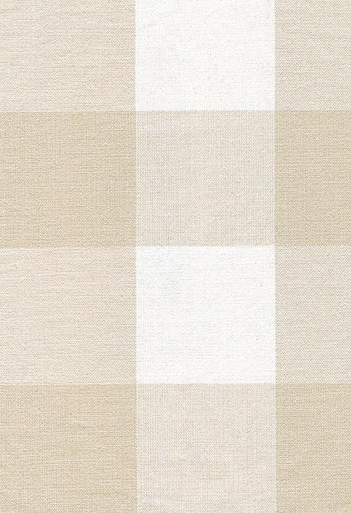 New England Cotton Check Fabric Neutral and off white large gingham check fabric