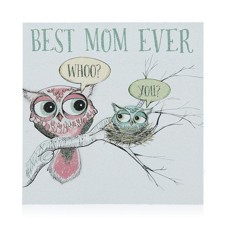 Best Mom Glitter Card