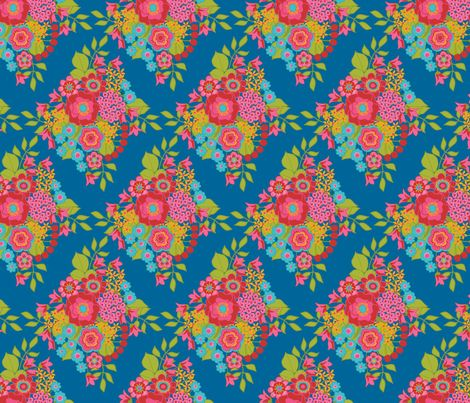 Flower Fireworks Damask fabric by simply_colours on Spoonflower - custom fabric