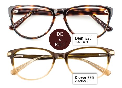 Get the look - big and bold specs