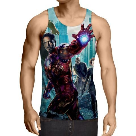 The Avengers Iron Man Black Widow Nick Fury Swag Tank Top  #Avengers #IronMan #BlackWidow #NickFury #Swag #TankTop
