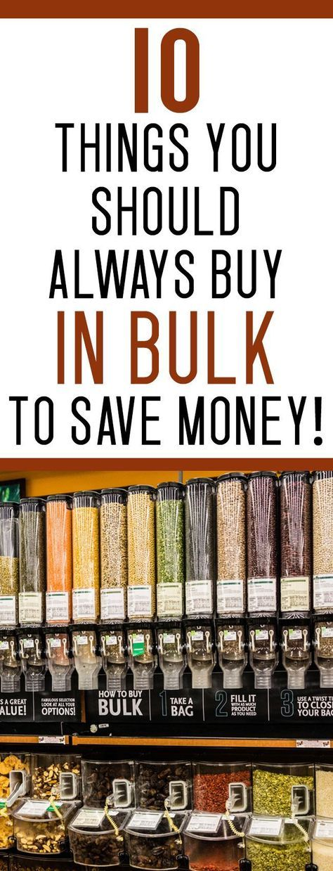 looking for some easy ways to save money? Buy this stuff in bulk and save thousands!