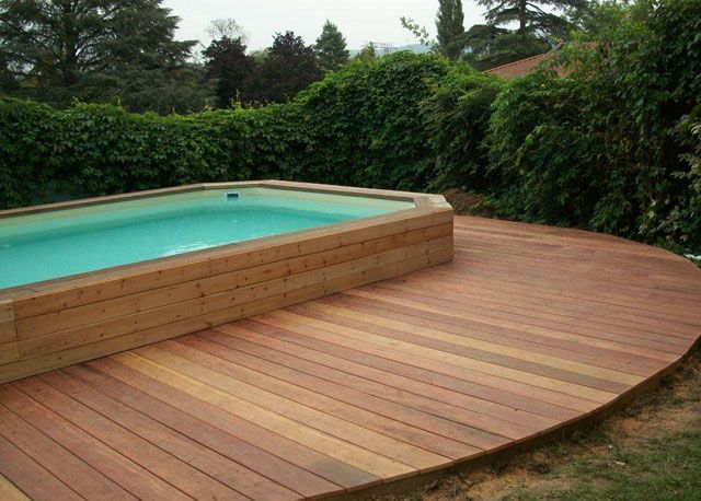38 best images about piscine hors sol on pinterest pool for Piscine hors sol 5x3 bois