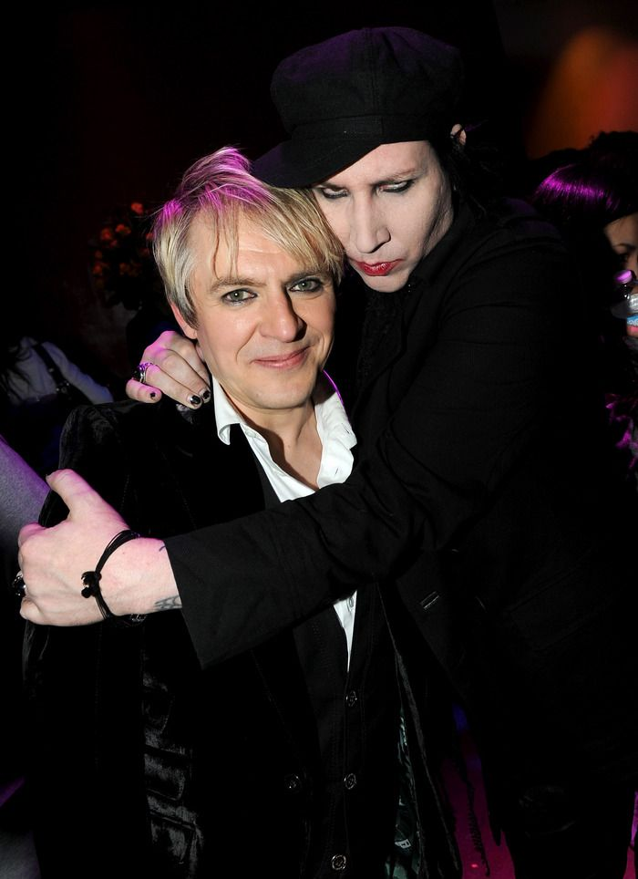 Marilyn Manson and Nick Rhodes