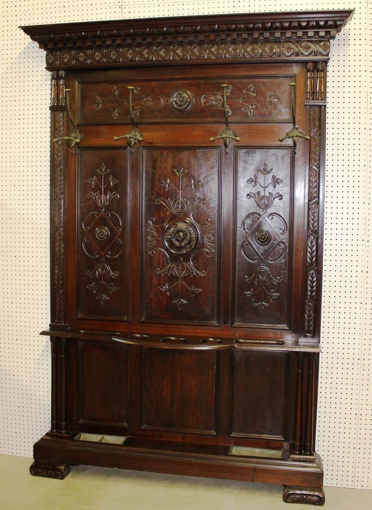143 Best Antique Hall Trees Images On Pinterest