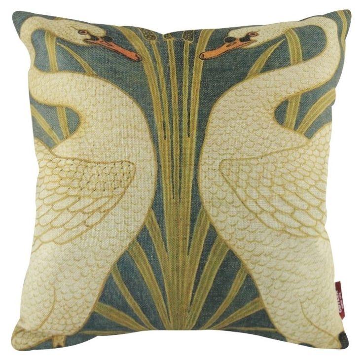 White Asian Cranes Ukiyoe Art Painting Decorative Pillowcase Cushion Cover Sham #Unbranded