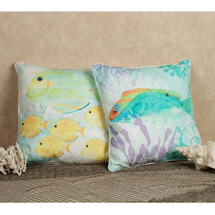 120 best images about Lake house pillows on Pinterest Pillow covers, Fish and Coral pillows