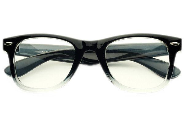 Glasses Frames Black On Top Clear On Bottom : Designer Fashion Pearls Clear Lens Oversized Round Glasses ...