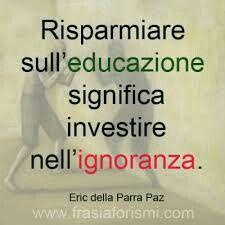 L'educazione è primo interesse che la società deve avere per avere adulti di valore nel futuro! Impara ad imparare. #sviluppocognitivo