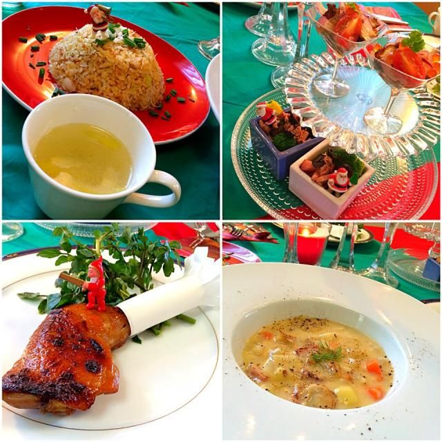 クリスマスに備えてローストチキンの準備です! 早めに練習して、 本番に備えましょう〜 ・皮パリパリローストチキン ・蒸した鶏の湯で汁で卵スープ ・簡単だけど濃厚クラムチャウダー ・しらすのパラパラ炒飯 おまけ ・ブロッコリーとベーコンのおつまみ ・唐揚げと自家製いくらのマリネ ・タルトタタン - 128件のもぐもぐ - お料理教室♪ クリスマスディナー by 志野