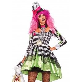 Mad Hatter van Alice in Wonderland. Multi print jurk.