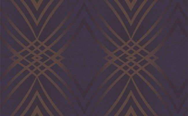 Sample Geometric Glitter Wallpaper in Metallic and Purple design by Seabrook Wallcoverings